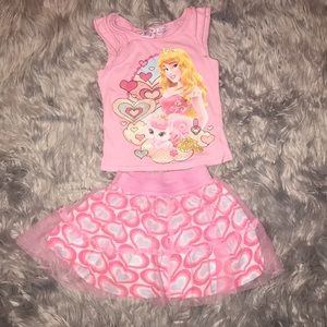 [Disney princess] tank & skirt outfit